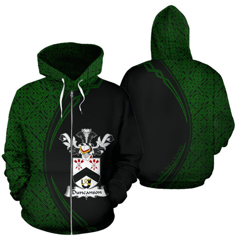 Image of Duncanson Family Crest Zip Hoodie Irish Circle Style Hj4