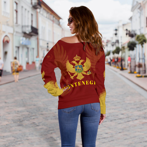 Montenegro Style Women Off Shoulder Sweater 3