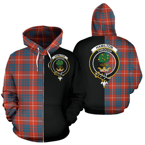 (Custom your text) Hamilton Ancient Tartan Hoodie Half Of Me TH8