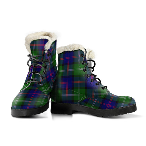 Image of Macthomas Modern Tartan Boots For Women