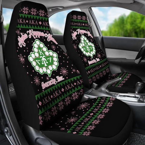 3D ALL OVER ALPHA KAPPA ALPHA UGLY Car Seat Covers A31