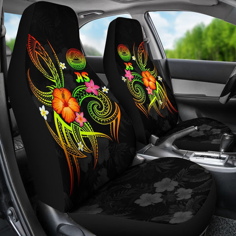American Samoa Polynesian Car Seat Covers - Legend of American Samoa (Reggae)
