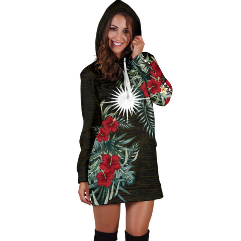 Marshall Islands 2 Hibiscus Hoodie Dress A7