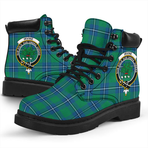 Image of Irvine Ancient Tartan Clan Crest All-Season Boots HJ4