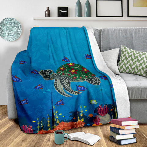 Hawaii Ocean Turtle Premium Blanket - J4