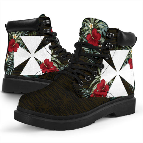 Wallis and Futuna Hibiscus All-Season Boots A7