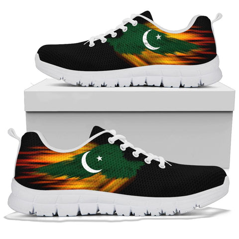 Pakistan Sneakers - Fire Wings and Flag A188