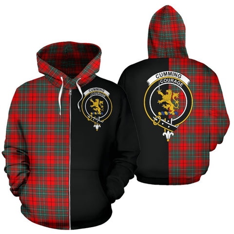 Image of (Custom your text) Cumming Modern Tartan Hoodie Half Of Me TH8