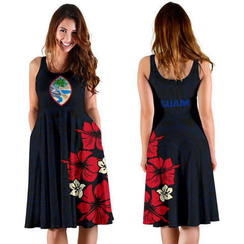Image of Guam Hibiscus Women's Dress A02