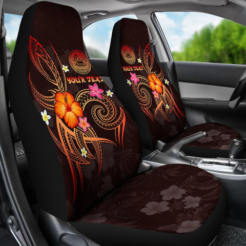 American Samoa Polynesian Personalised Car Seat Covers - Legend of American Samoa (Red)
