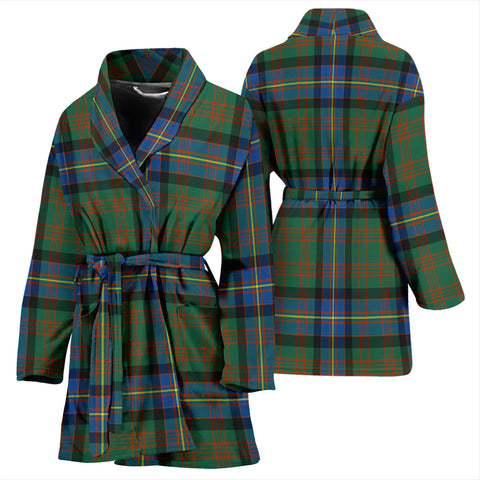Cochrane Ancient Bathrobe - Women Tartan Plaid Bathrobe Universal Fit