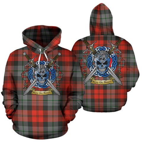 MacLachlan Weathered Tartan Hoodie Celtic Scottish Warrior A79 | Over 500 Tartans | Clothing | Apaprel