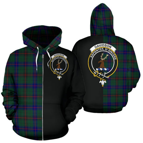 Image of (Custom your text) Davidson Modern Tartan Hoodie Half Of Me TH8
