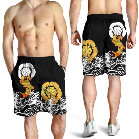 Image of The Golden Koi Fish Shorts A7