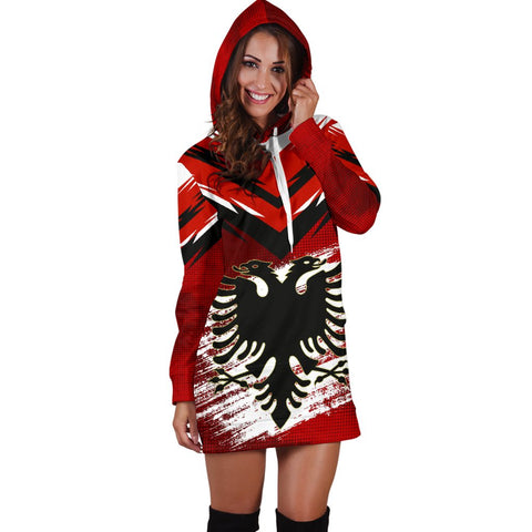 Albania Women's Hoodie Dress - New Release A25