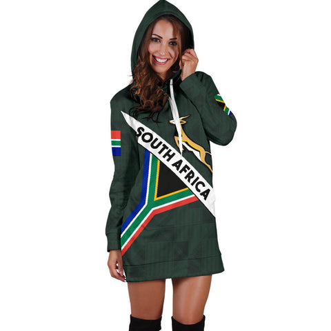 Image of South Africa Hoodie Dress Springbok Miss Universe Style K4