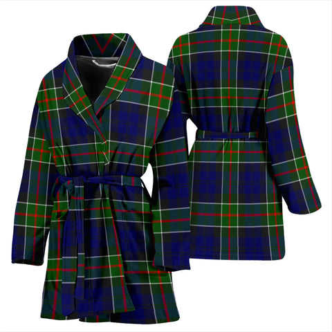 Colquhoun Modern Bathrobe - Women Tartan Plaid Bathrobe Universal Fit