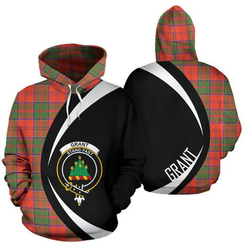 Image of Grant Ancient Tartan Circle Hoodie HJ4