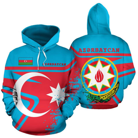Image of Azerbaijan Hoodie Painting Style Th52