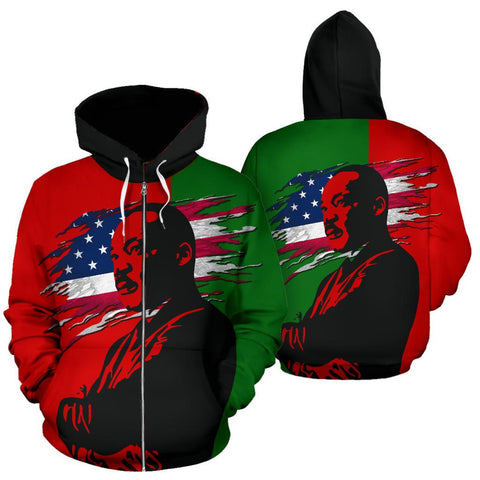 African-American Heritage - Mar Luther King Zip Hoodie | Clothing | 1sttheworld