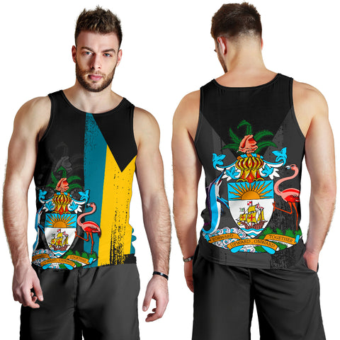 Bahamas Flag Coat Of Arm Men's Tank Top