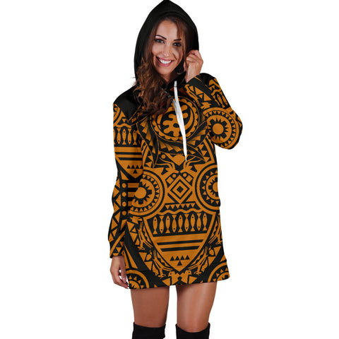 Africa Hoodie Dress - African Heritage Nyame Ye Ohene | 1sttheworld Ship Worldwide
