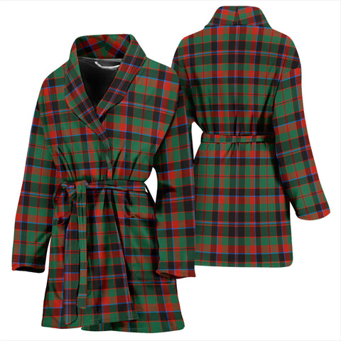 Cumming Hunting Ancient Bathrobe - Women Tartan Plaid Bathrobe Universal Fit