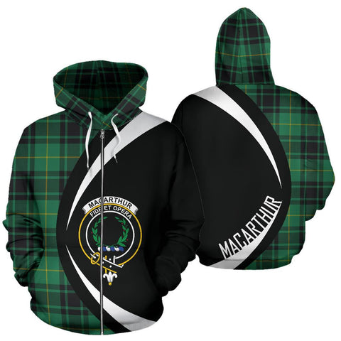 MacArthur Ancient Tartan Circle Zip - Up Hoodie
