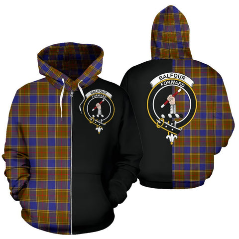 (Custom your text) Balfour Modern Tartan Hoodie Half Of Me TH8