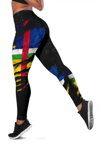 Central African Republic In Me Women's Leggings - Special Grunge Style A31
