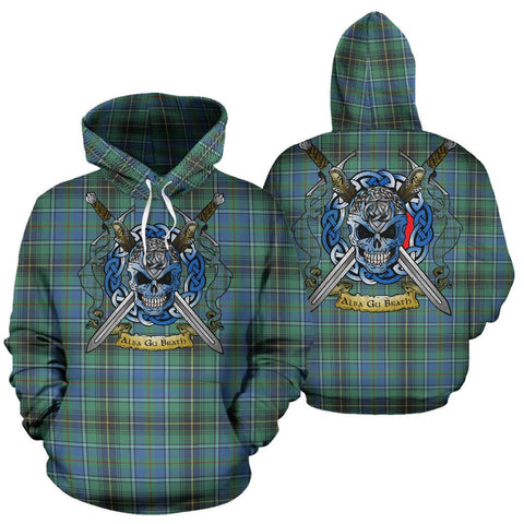 MacInnes Ancient Tartan Hoodie Celtic Scottish Warrior A79 | Over 500 Tartans | Clothing | Apaprel