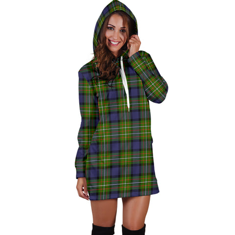 Image of Fergusson Modern Tartan Hoodie Dress HJ4