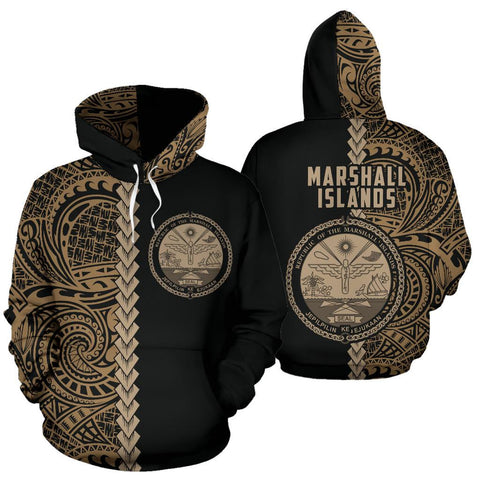 Image of Marshall Islands Hoodie Polynesia - Half Style (Gold)
