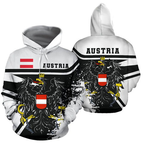 Image of Austria Hoodie Painting Style Th52