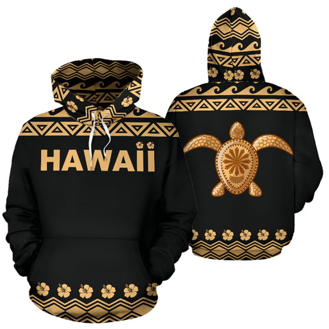 Hawaii Turtle All Over Hoodie - BN04
