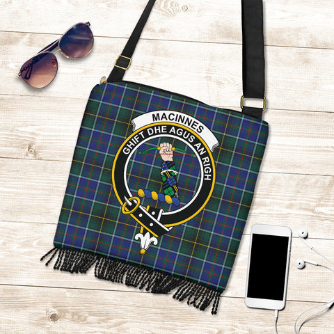 Image of MacInnes Modern Tartan Clan Badge Boho Handbag K7