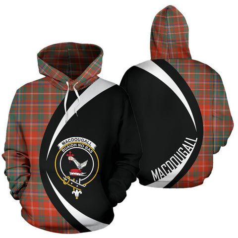 Image of MacDougall Ancient Tartan Circle Hoodie HJ4