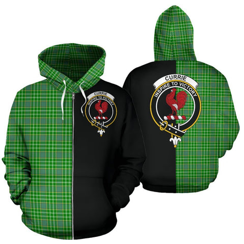 Image of (Custom your text) Currie Tartan Hoodie Half Of Me TH8