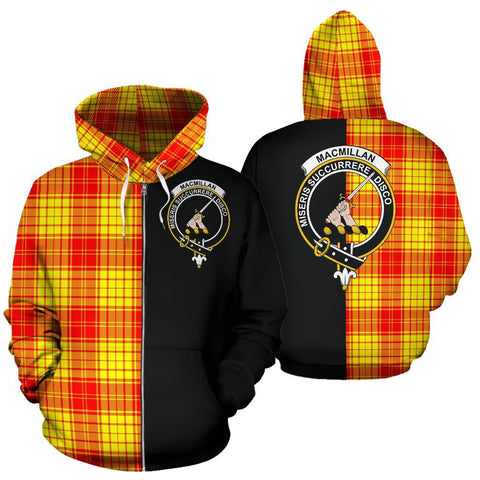 (Custom your text) MacMillan Clan Tartan Hoodie Half Of Me TH8