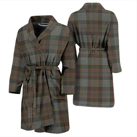 Image of Outlander Fraser Tartan Men's Bathrobe - Bn04