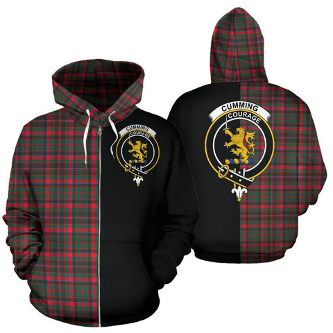 (Custom your text) Cumming Hunting Modern Tartan Hoodie Half Of Me TH8