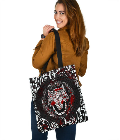 Image of Viking Style Tote Bag - Fenrir Viking Blood 3D A27