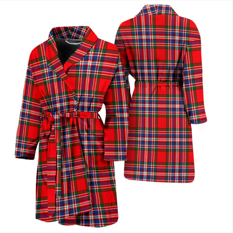 Macfarlane Modern Bathrobe - Men Tartan Plaid Bathrobe Universal Fit