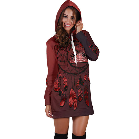 Haiti Dreamcatcher Hoodie Dress A02 |Women's Clothing| 1sttheworld