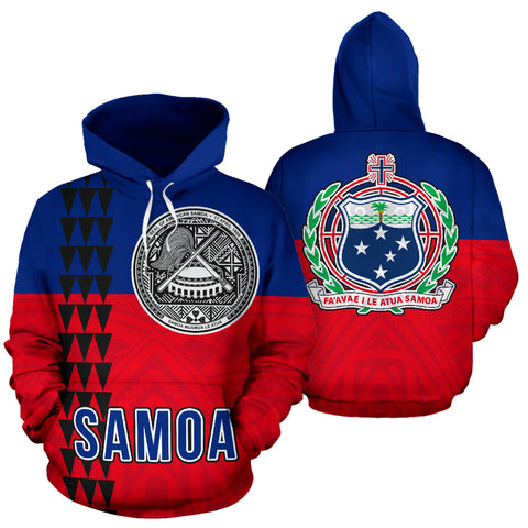 Image of Samoan Flag Polynesian Tribal Hoodie
