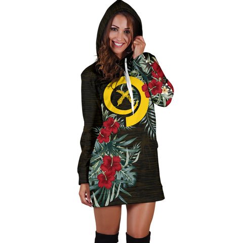 Image of Vanuatu Hibiscus Hoodie Dress A7