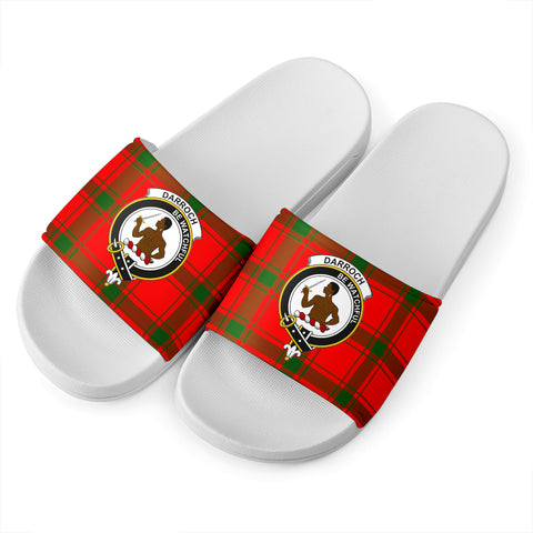 Tartan Slide Sandals - Darroch (Gourock) Clans - White Version