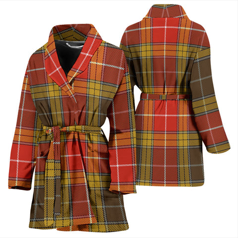 Buchanan Old Set Weathered Bathrobe - Women Tartan Plaid Bathrobe Universal Fit