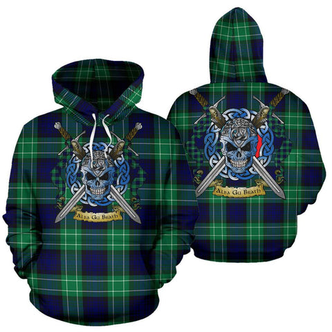 Image of Abercrombie Tartan Hoodie Celtic Scottish Warrior A79 | Over 500 Tartans | Clothing | Apaprel