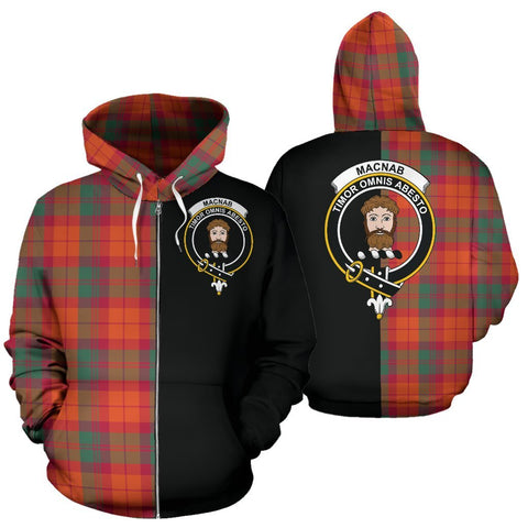 (Custom your text) MacNab Ancient Tartan Hoodie Half Of Me TH8